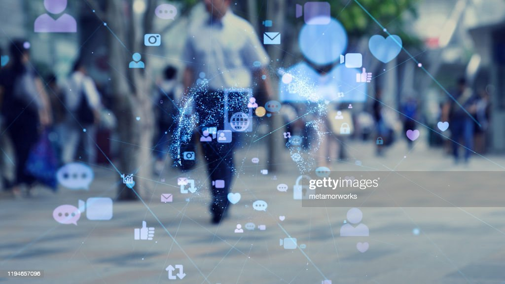 Social networking service concept. communication network. : Stock Photo