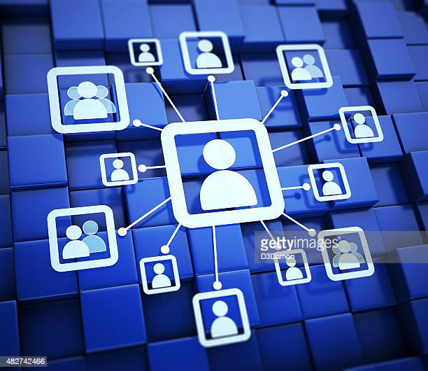 Conceito de redes sociais