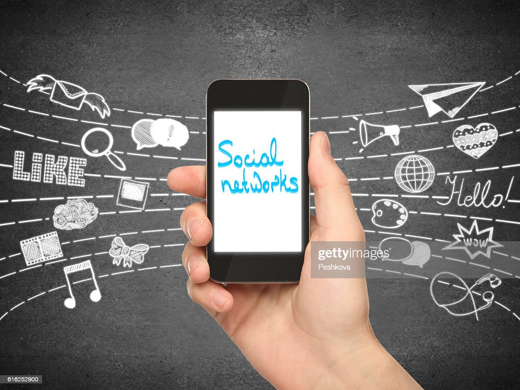 Social networks concept : Stock Photo