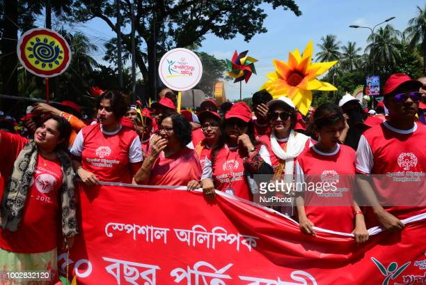 A Social Organization held a Colorful rally to celebration 50 years of Special Olympics in Dhaka Bangladesh on July 20 2018