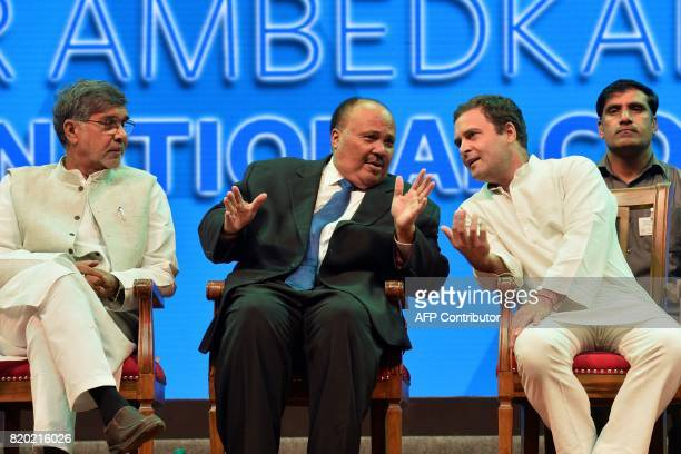Social reformer Martin Luther King III Vice President of Indian National Congress Rahul Gandhi and Nobel Laureate and human rights activist Kailash...