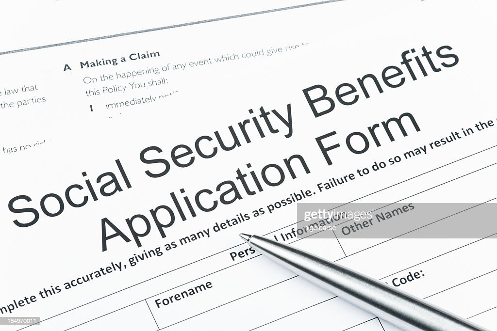 Social Security Benefits Application Form Stock Photo  Getty Images