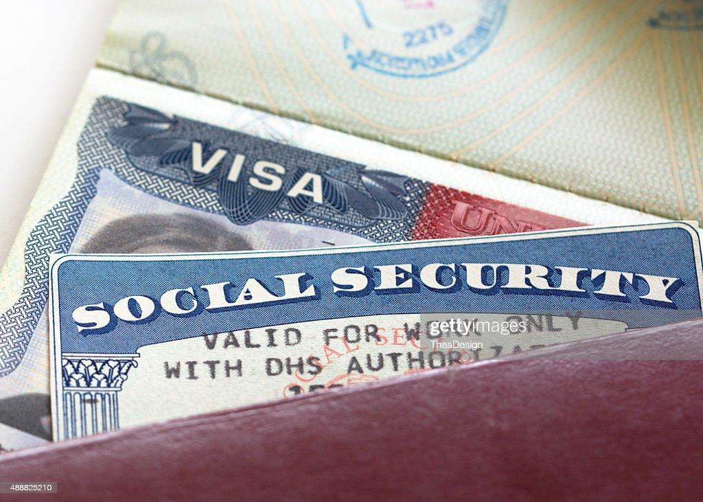 Social Security Card : Stock Photo