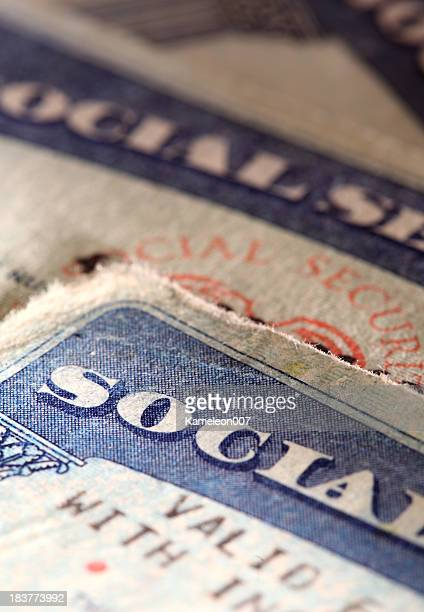 social security cards - identity theft stock pictures, royalty-free photos & images