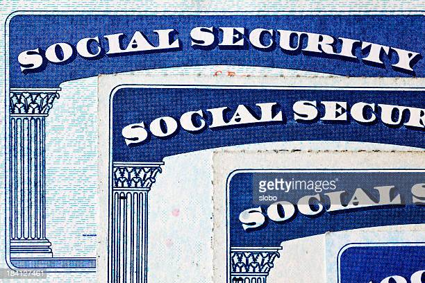 social security cards - social security stock pictures, royalty-free photos & images