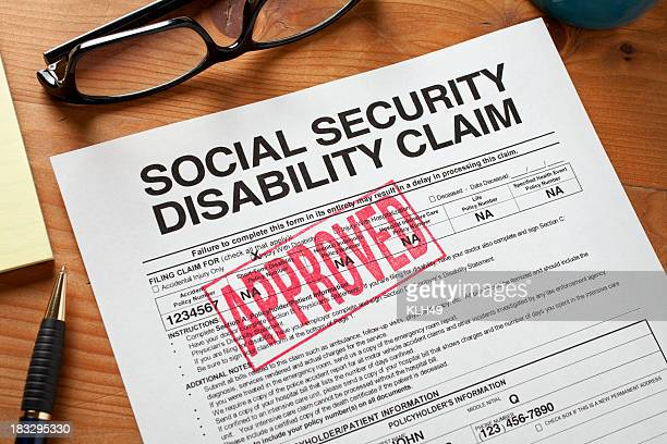 Sécurité sociale Disabilty former l'inscription acceptée.