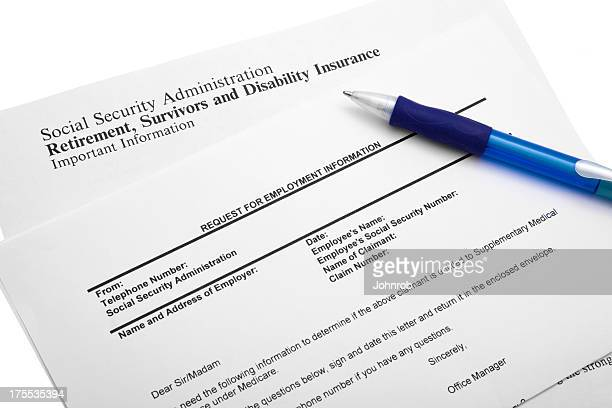 social security information request - social security stock pictures, royalty-free photos & images