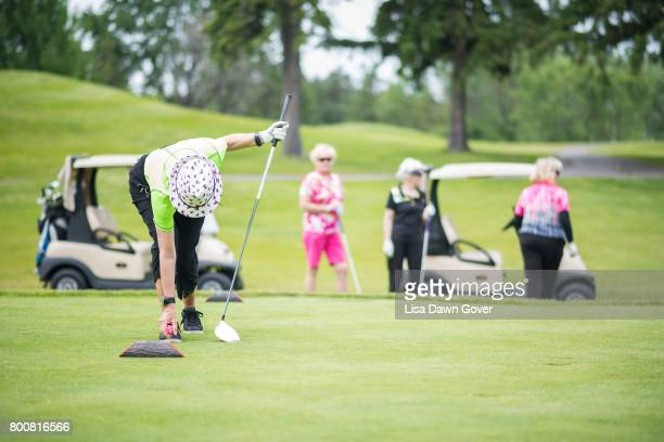 social seniors - women's golf stock pictures, royalty-free photos & images
