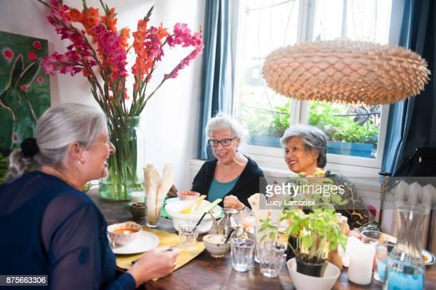 Social Seniors: senior women having lunch