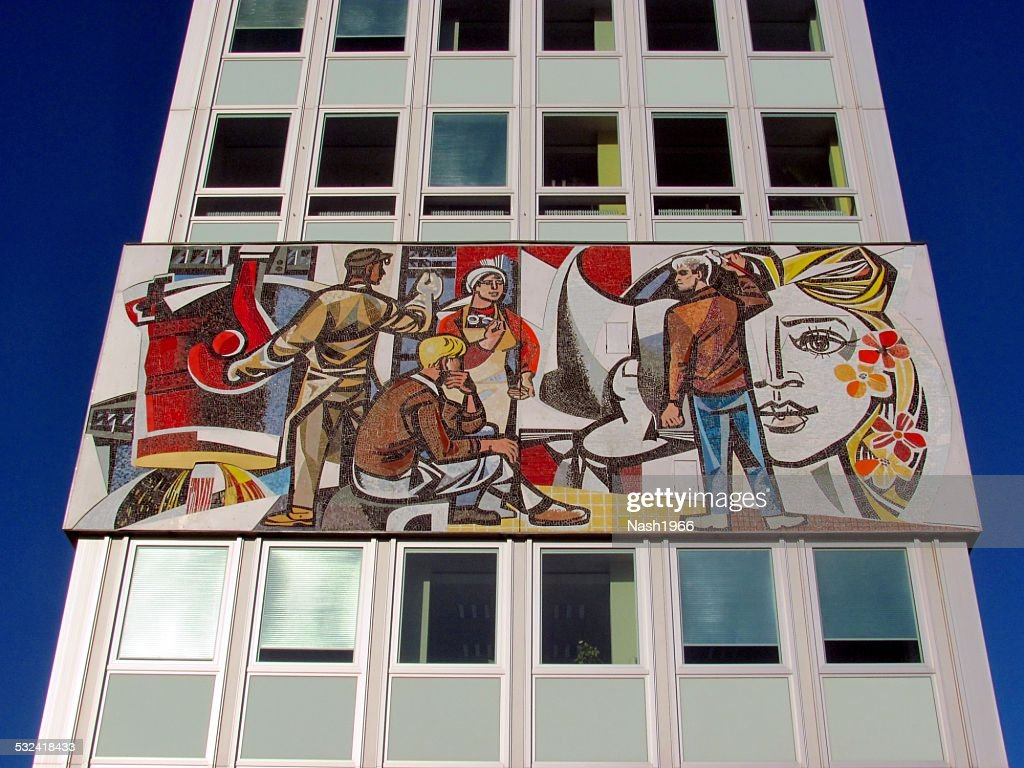 Sozialistischen Kunst in Berlin : Stock-Foto