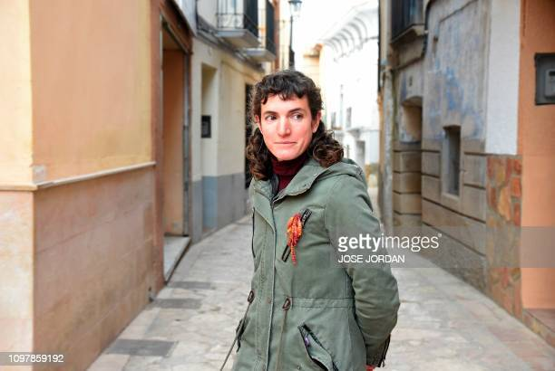 Socialist councillor Pilar Carbonell poses in Oliete northeastern Spain on December 17 2018 Residents began moving away from rural towns and villages...