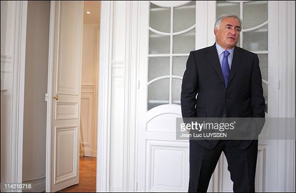 Socialist Dominique StraussKahn in his office in Paris France on May 11 2004