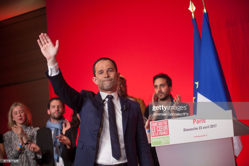 Presidential Candidate Benoit Hamon Votes In Paris