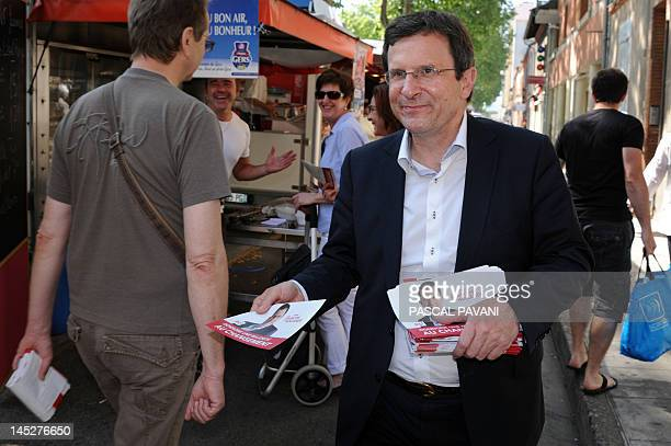 Socialist Party candidate for the June 2012 French parliamentary election in the 9th constituency of Haute-Garonne department Christophe Borgel...