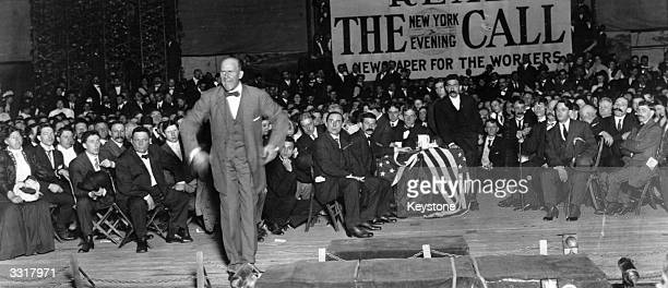 Socialist party presidential candidate Eugene Victor Debs addressing a political meeting in New York Debs was the socialist candidate five times and...