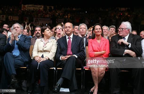 Socialist Party rally at Zenith of Lille in legislative elections with the presence of Segolene Royal and Laurent Fabius Daniel Percheron President...