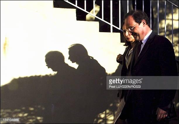 Socialist Party's congress In Le Mans France On November 18 2005 Segolene Royal and Francois Hollande