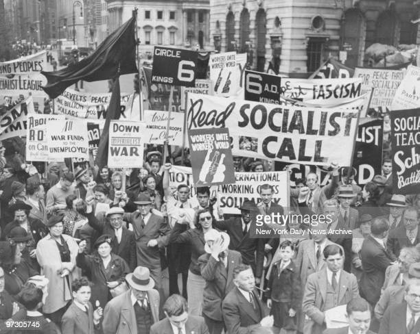 Socialist rally at Madison Square Garden