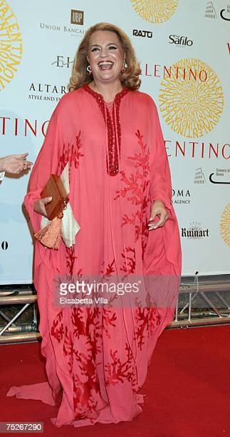 Socialite actress Ira Furstenberg arrives at the post haute couture show gala dinner and ball in the Parco dei Daini at the Villa Borghese July 7...