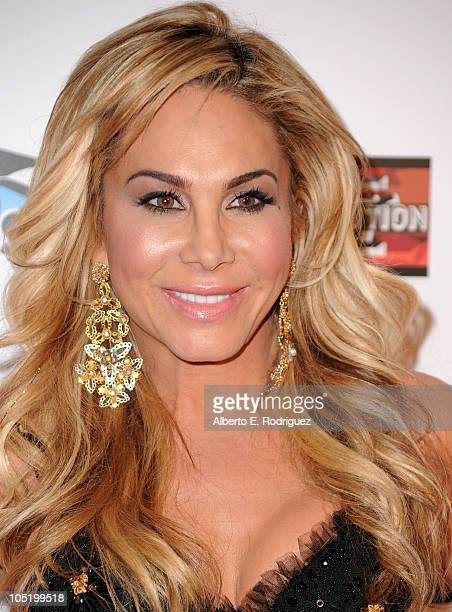 Socialite Adrienne Maloof arrives at Bravo's 'The Real Housewives of Beverly Hills' series party on October 11 2010 in West Hollywood California