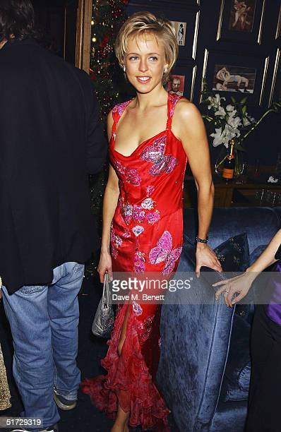 Socialite Alexandra Spencer Churchill attends the launch party celebrating publication of Tatler's Little Black Book at Tramp on November 10 2004 in...