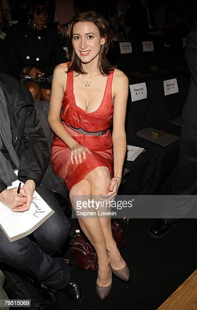Socialite Alexis Bryan attends the Max Azria 2008 fashion show during MercedesBenz Fashion Week Fall 2008 at The Tent at Bryant Park on February 4...