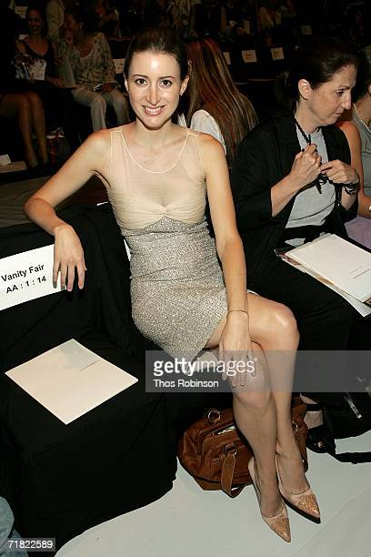 Socialite Alexis Bryan poses in the front row at BCBG Max Azria Spring 2007 fashion show during Olympus Fashion Week at the Tent in Bryant Park...