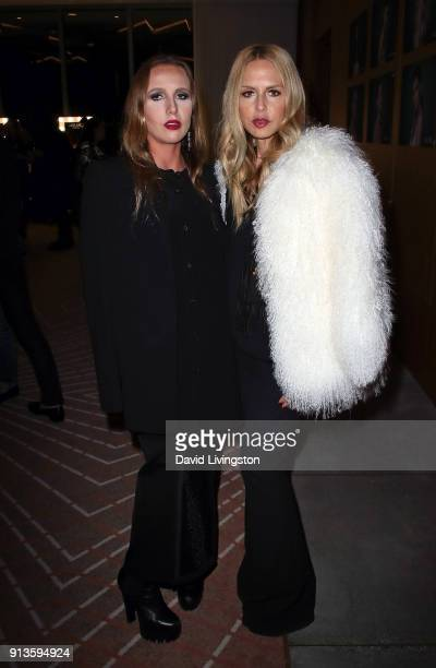 Socialite Allegra Versace Beck and designer Rachel Zoe attend the Glam App Reloaded Launch Party at The Jeremy Hotel on February 2 2018 in West...