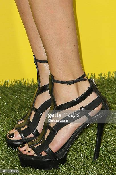 Socialite Allison Melnick arrives at The World Dog Awards at Barker Hangar on January 10 2015 in Santa Monica California