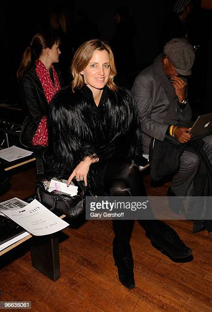 Socialite Amanda Brooks attends the Rag Bone Fall 2010 fashion show during MercedesBenz Fashion Week at on February 12 2010 in New York City