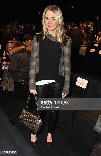 Socialite Amanda Hearst attends the Naeem Khan Fall 2012 fashion show during MercedesBenz Fashion Week at The Theatre at Lincoln Center on February...