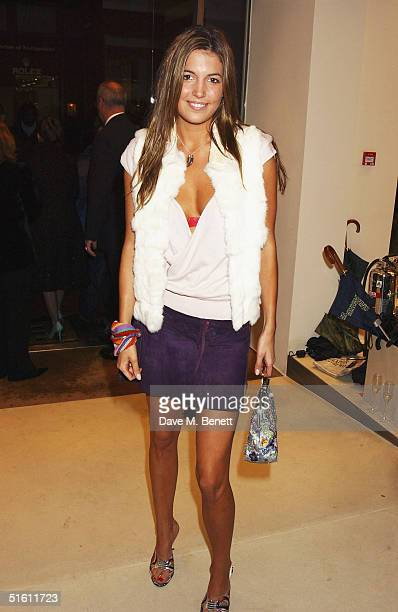 Socialite Amanda Sheppard attends the store launch party for the new flagship branch of Maxmara at its Old Bond Street location on October 28 2004 in...