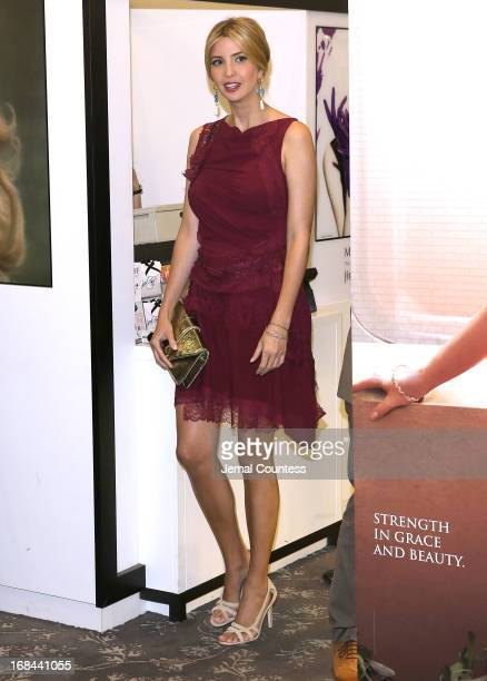 Socialite and entrepreneur Ivanka Trump arrives at the launch her new fragrance 'Ivanka Trump' at Lord Taylor on May 9 2013 in New York City