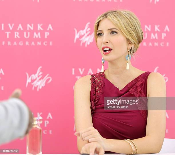 Socialite and entrepreneur Ivanka Trump greets customers during the launch her new fragrance 'Ivanka Trump' at Lord Taylor on May 9 2013 in New York...
