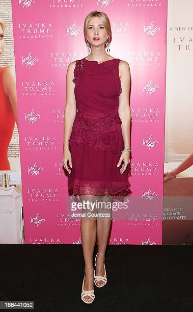 Socialite and entrepreneur Ivanka Trump poses for a photo during the launch of her new fragrance 'Ivanka Trump' at Lord Taylor on May 9 2013 in New...
