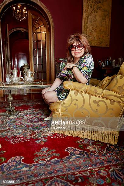 Socialite and exwife of mafia boss Maurizio Gucci Patrizia Reggiani is photographed for the Observer on June 20 2016 in Milan Italy
