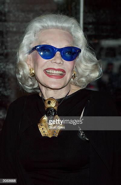Socialite Ann Slater arrives at a party sponsored by Coach to celebrate the CooperHewitt 2003 National Design Awards June 3 2003 at the CooperHewitt...