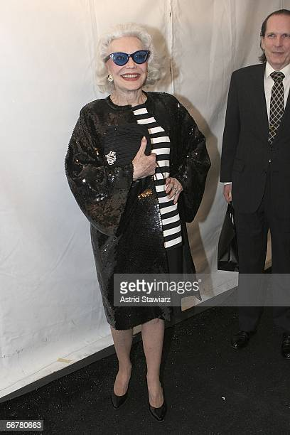 Socialite Ann Slater attends Olympus Fashion Week Fall 2006 at Bryant Park February 07 2006 in New York City