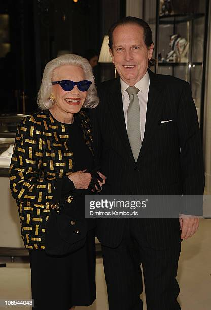 Socialite Anne Slater and guest attend the launch party for The World Of Gloria Vanderbilt at the Ralph Lauren Women's Boutique on November 4 2010 in...