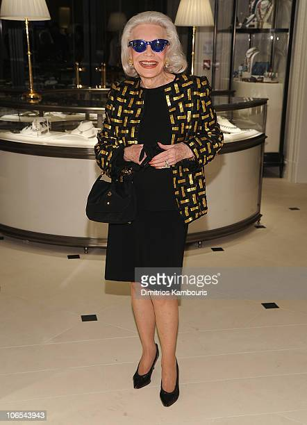 Socialite Anne Slater attends the launch party for The World Of Gloria Vanderbilt at the Ralph Lauren Women's Boutique on November 4 2010 in New York...