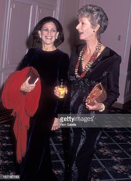 Socialite Annette Reed and socialite Marella Agnelli attend the Animal Medical Center's Third Annual Top Dog Gala on November 13 1991 at the Pierre...