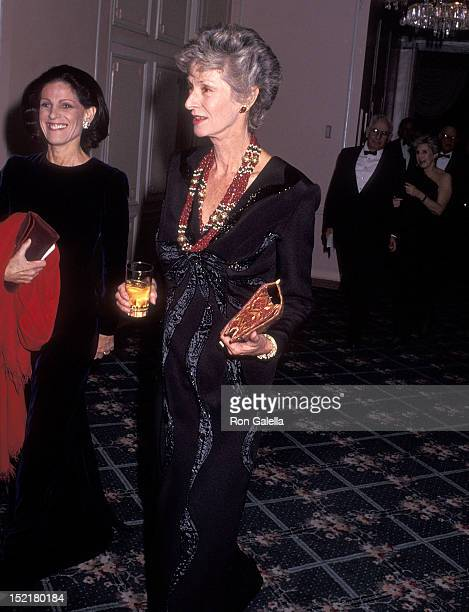 Socialite Annette Reed and socialite Marella Agnelli attend the Animal Medical Center's Third Annual Top Dog Gala on November 13, 1991 at the Pierre...