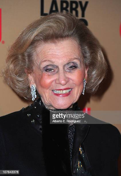 "Socialite Barbara Davis arrives at CNN's ""Larry King Live"" final broadcast party at Spago restaurant on December 16, 2010 in Beverly Hills,..."