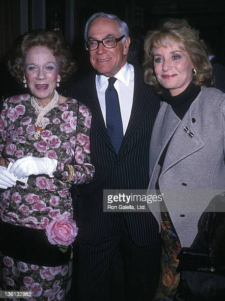 Socialite Brooke Astor businessman Malcolm Forbes and TV journalist Barbara Walters attend the Second Annual Literacy Volunteers of New York City's...