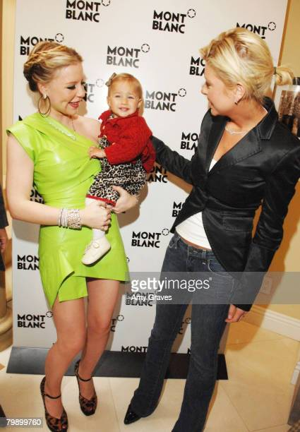 Socialite Casey Johnson, her daughter Ava and actress Tara Reid attends the Celebration Brunch for Inheriting Beauty and the Montblanc Jewelry...