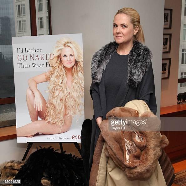 Cornelia Guest Id Rather Go Naked Than Wear Fur PETA