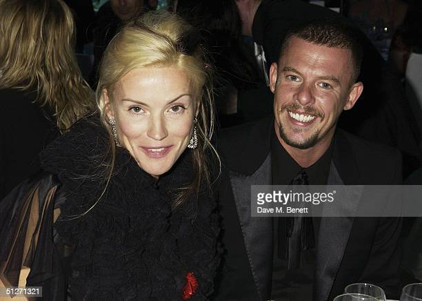 Socialite Daphne Guinness and designer Alexander McQueen attend the afterparty following the 'GQ Men Of The Year Awards' at the Royal Opera House on...