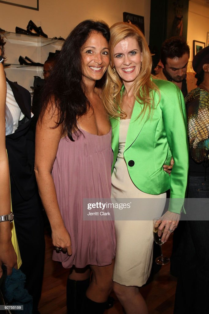 Socialite Emma Snowdon-Jones (L) and television personality Alex McCord attend the opening of Second Time Around's Upper East Side location on November 3, 2009 in New York City.