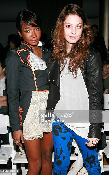 Socialite Genevieve Jones and model Cory Kennedy attend Benjamin Cho Fall 2008 during MercedesBenz Fashion Week at the Altman Building on February 4...