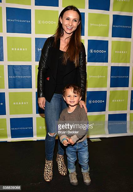 Socialite Georgina Bloomberg and son Jasper attend Jessica and Jerry Seinfeld host GOOD Foundation's 2016 Bash Sponsored by Beautycounter Hearst and...